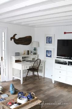 (source: Whale, Desk and cabinet – Joss & Main, Coffee Table – Wisteria, no longer available) This past weekend, we struggled with deciding to stay home. Or go to the beach. I know, does...