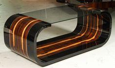 Art Deco Ziricote Coffee Table