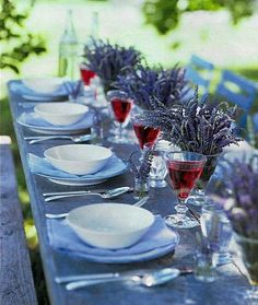 lavender Tablescape Centerpiece www.tablescapesbydesign.com https://www.facebook.com/pages/Tablescapes-By-Design/129811416695