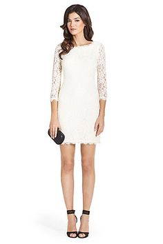 DVF Zarita Lace Dress in Ivory