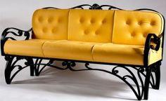 Кованый диван №85