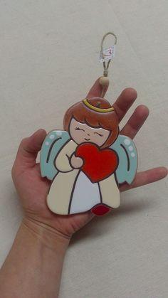ceramica come mestiere: Angeli in ceramica da appendere.