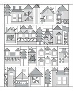Moda Be My Neighbor Free Quilt Pattern- block of the week from Bear Creek