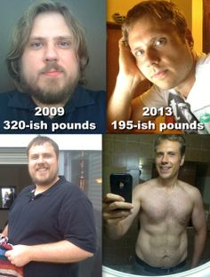 I'm 6 feet tall. Been eating unprocessed food and working out regularly for the last year and a half... However, these two sets of men before and after weight loss success story pics show how things have changed over the last few years... If I could offer any advice, what worked for me was eating