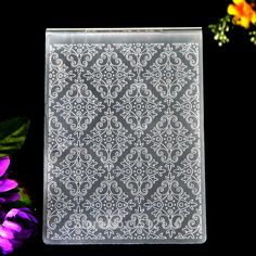 Kwan Crafts Leaves Flower Plastic Embossing Folders for Card Making Scrapbooking and Other Paper Crafts 10.5x14.5cm