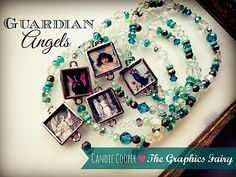 Photo Collage Jewelry Project. Candie Cooper gives step by step instructions for making a Guardian Angel Bracelet.