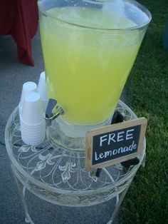 Always a good idea to have refreshments, but maybe get the kids involved and charge .25?