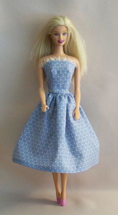 Handmade Vintage Barbie Clothes Blue with by PersnicketyGrandma, $4.00