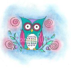 cute owl by Abbey Roo