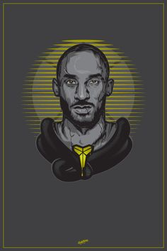 Kobe Bryant: Black Mamba Poster (Basketball Drawings)