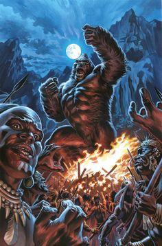 *High Grade* (W) Asmus (A) Carlos Magno (CA) Felipe Massafera King Kong, world-famous and original gargantuan ape, is the progenitor of an entire genre. Horror Comics, Horror Art, King Kong Skull Island, Cool Monsters, Merian, Comic Books Art, Comic Art, Book Art, Fantastic Beasts