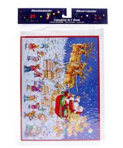 Santa Delivering Gifts Advent Calendar