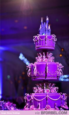 Disneyland Castle Wedding Cake