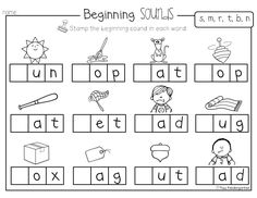 beginning sounds and middle sounds worksheets - Mrs. Ricca\'s ...