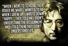 INFJs & THEIR QUOTES:  JOHN LENNON  FOR MORE CELEBRITY QUOTES & CONTENT EXCLUSIVE TO INFJ LIFESTYLE, FOLLOW US ON FACEBOOK.COM/INFJREFUGE.