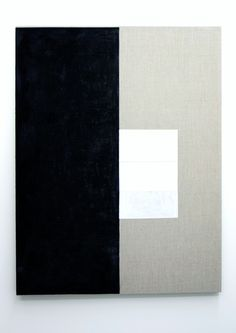 Alan Johnston | Untitled, 2013 | Acrylic titanium white, pencil, charcoal and beeswax on linen