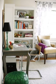 Daily Dream Decor: workspace: purple & jade
