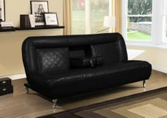 Amazing Classic Car Seat Inspired Futon Sofa Convertible (Black) Bella Esprit,http:/