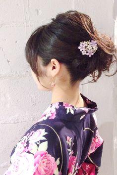 浴衣のヘアセット Stylists, Hair, Collections, Fashion, Moda, Fashion Styles, Fashion Illustrations, Strengthen Hair