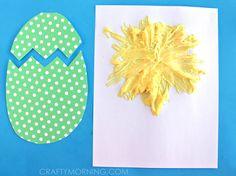 Make hatching puffy paint chicks using shaving cream and elmers glue! It& a fun easter craft for kids to make. Crafts For Kids To Make, Easter Crafts For Kids, Preschool Activities, Children Activities, Spring Projects, Spring Crafts, Art Projects, Cute Easter Bunny, Easter Chick