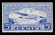 British Columbia Airways Ltd: victoria-vancouver correo aéreo -