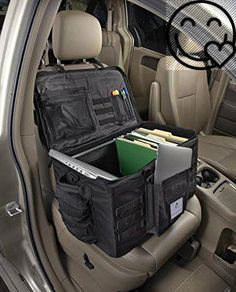 Upper Panel Attaches To The Headrest Of Passenger Seat And Rear Bag Car OrganizerCar