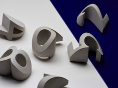 Numeral: Concrete House Numbers by Daast Design