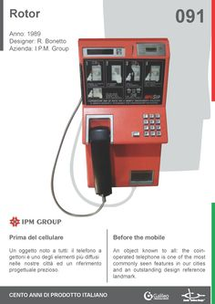 Rotor by Rodolfo Bonetto for IPM Group (1989) #telephone #phone #coin