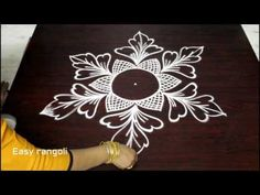 latest rangoli designs with 5 dots - simple kolam with dots - easy chukkala muggulu rangavalli Rangoli Designs With Dots, Rangoli With Dots, Beautiful Rangoli Designs, Simple Rangoli, Rangoli Patterns, Rangoli Kolam Designs, Free Hand Rangoli, Latest Rangoli, Muggulu Design