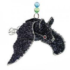 "Flying Bat 9"" Handmade Wire Glass Beaded Beads Animal Art Statue Sculpture on eBay!"