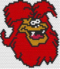Wolfie From The Groovie Goolies Bead Pattern