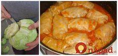 Tento recept sa traduje z generácie na generáciu a kedysi nesmel chýbať na žiadnej svadobnej hostine. Zemplínske svadobný holúbky sú klenotom našej rodinnej kuchárky, no pravdou je, že nikto ich nerobí tak chutne, ako naša Eastern European Recipes, Sauerkraut, Shrimp, Cabbage, Food And Drink, Cooking Recipes, Tasty, Dinner, Red Peppers