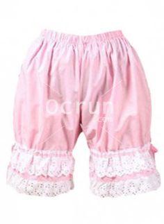 Schöne und Sweet Rosa Baumwolle Schnüren Lolita Pumphose