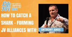 """Ever wondered how to get JV partners? Here today to tell us how to get BIG JV partners is Anthony Amos! Author of the book, """"How to Catch a Shark"""", Anthony shares his tips on how to create relationships with influential people. How To Get Bigger, Influential People, Tv Episodes, To Tell, Shark, The Book, Relationships, Product Launch, Author"""