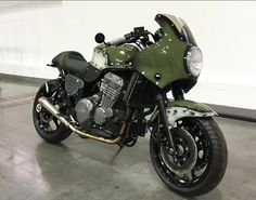 Triumph Trophy 900 Cafe Racer Army version #motorcycles #caferacer #motos   caferacerpasion.com