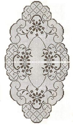 This Pin was discovered by sem Crochet Tablecloth Pattern, Crochet Doily Patterns, Crochet Patterns Amigurumi, Crochet Stitches, Embroidery Patterns, Knitting Patterns, Crochet Patron, Irish Crochet, Crochet Waffle Stitch