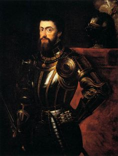 .Charles I of Spain (first to rule Castile, Leon, and Aragon simultaneously); Charles V of the Holy Roman Empire; son of Juana of Castile and Philip of Burgundy and Castile, thus Catherine of Aragon's nephew. Heir  of the House of Habsburg of the Habsburg Monarchy; the House of Valois-Burgundy of the Burgundian Netherlands; and the House of Trastámara of the Crowns of Castile and Aragon.