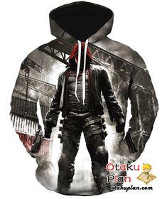Batman Arkham Knight Jason Todd Zip Up Hoodie - Batman 3D Zip Up Hoodies And Clothing