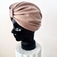 Handcrafted and lined CL Stella Turban in Nude Pink Stretch Leatherette. Turbans, Side View, Vogue Paris, Cl, Headbands, Dubai, Baseball Hats, Nude, London