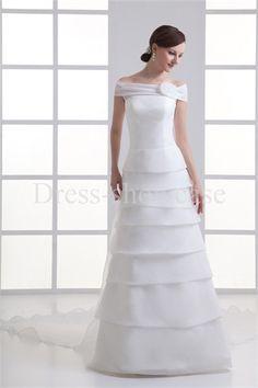 Ruched Sheath/ Column Summer Off-the-shoulder Wedding Dresses #wedding #weddinggown #weddingdress #dress #fashion #bigday #womenfashion #womenwear #2015wedding