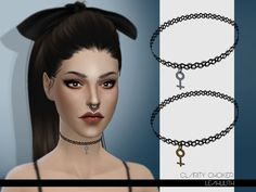 Clarity Choker by Leah Lilith at TSR via Sims 4 Updates
