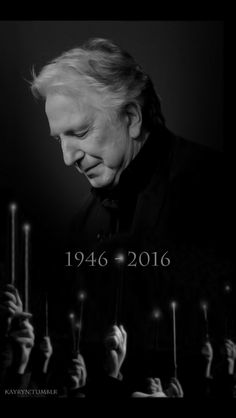 Everyone, raise your wands ❤️❤️ R.I.P Alan Rickman ❤️❤️ You will always be remembered ❤️❤️