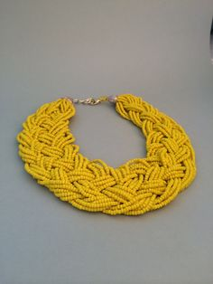Hey, I found this really awesome Etsy listing at https://www.etsy.com/listing/210089756/chunky-statement-necklace-yellow-glass