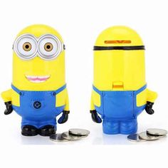 Minions Despicable ME Cartoon Figures Piggy Bank Money Box Hucha Saving Coin Cent Penny Children Toy Alcancia Baby Toy Minions Cartoon, Minions Despicable Me, My Minion, Minion Stuff, Money Saving Box, Money Box, Super Mario Bros, Baby Toys, Kids Toys