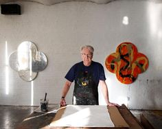 Max Gimblett in his New York Studio
