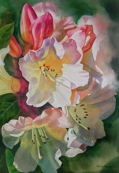 Rhododendron Shadows Painting by Sharon Freeman