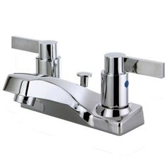 Kingston Brass NuvoFusion FB2201NDL 4-inch Centerset Lavatory Faucet - Polished Chrome