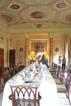 Neo-classical Basildon Park dining room