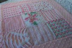 Baby Quilt - Lovey Chenille Quilt - Pretty In Pink Vintage Chenille ...