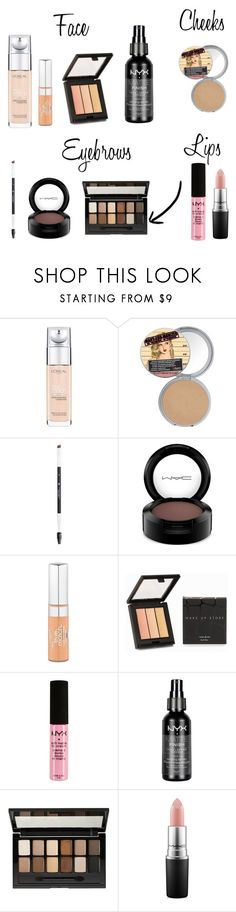 """""""Underrated products"""" by atouchofme ❤ liked on Polyvore featuring beauty, L'Oréal Paris, Anastasia Beverly Hills, MAC Cosmetics, MAKE UP STORE, NYX and Maybelline"""
